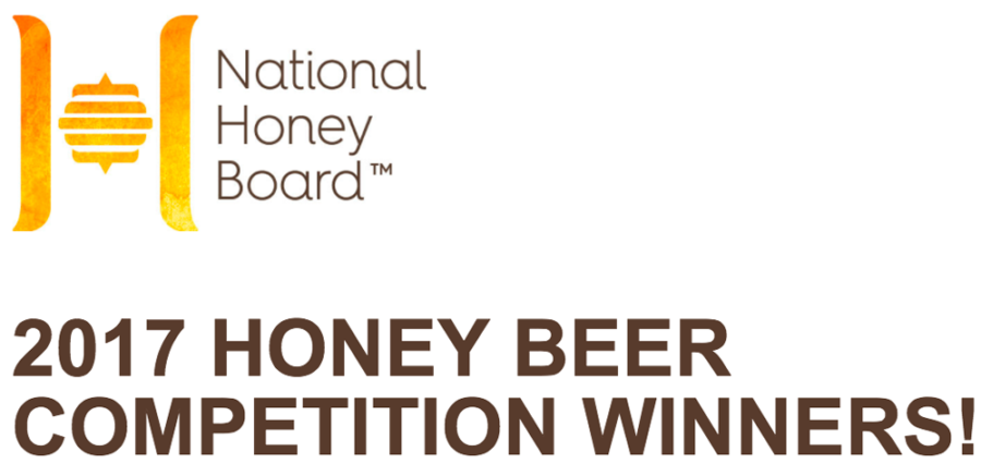 National Honey Board 2017 Beer Competition Medals